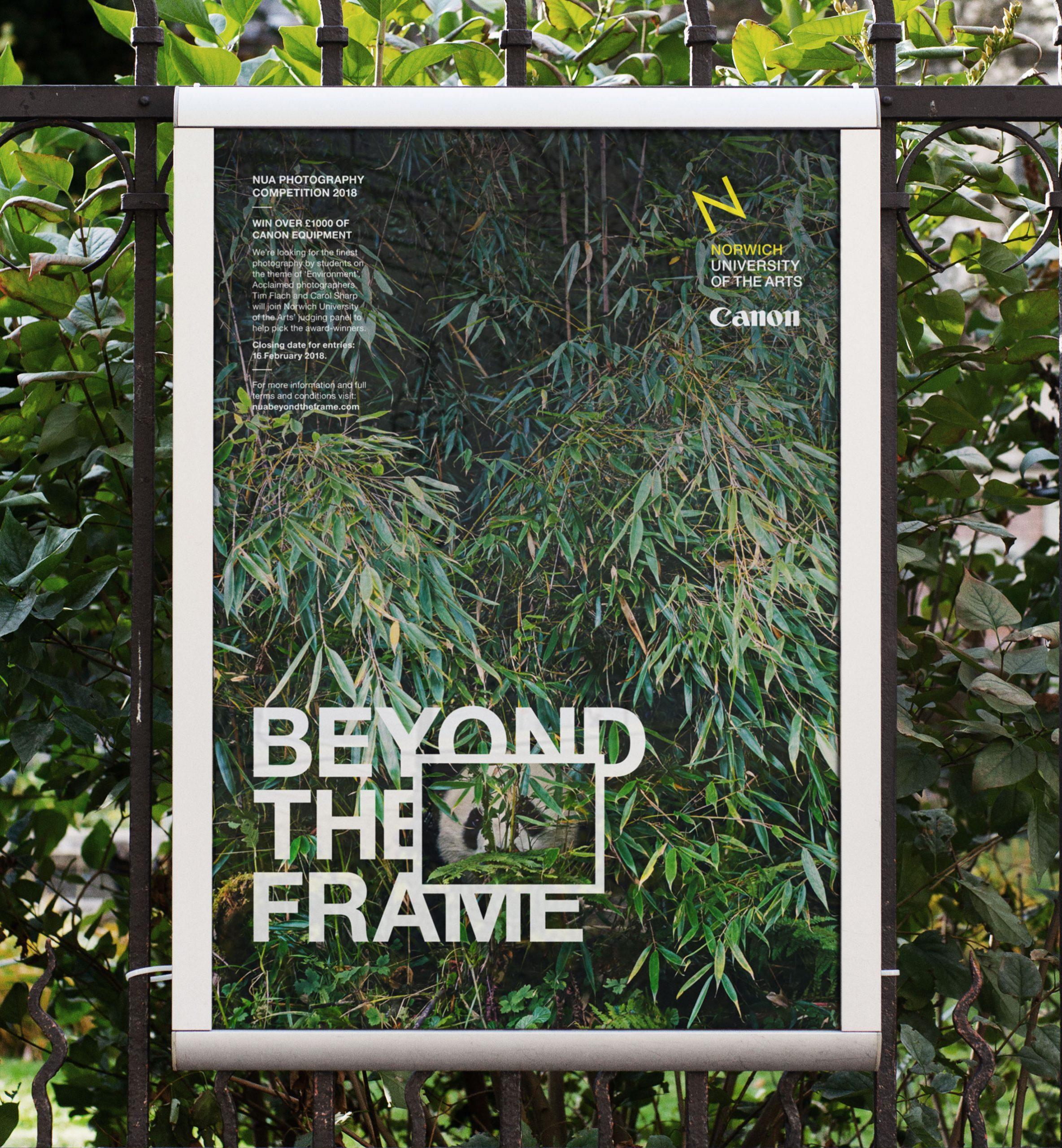 Beyond the Frame branding poster