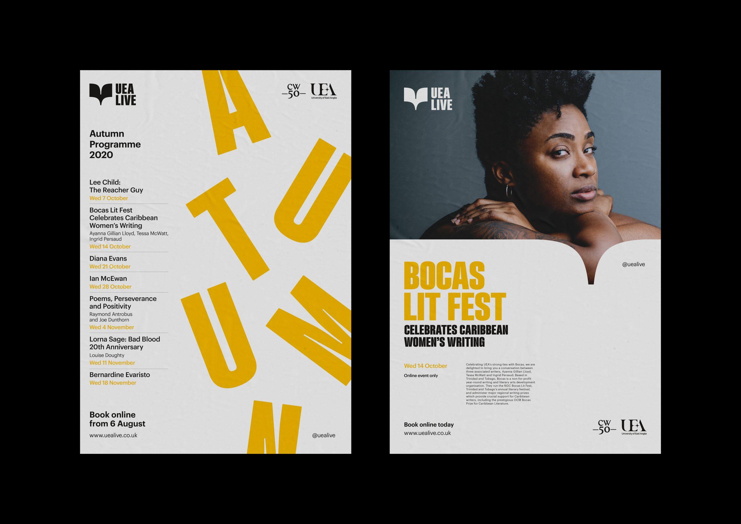 UEA live posters