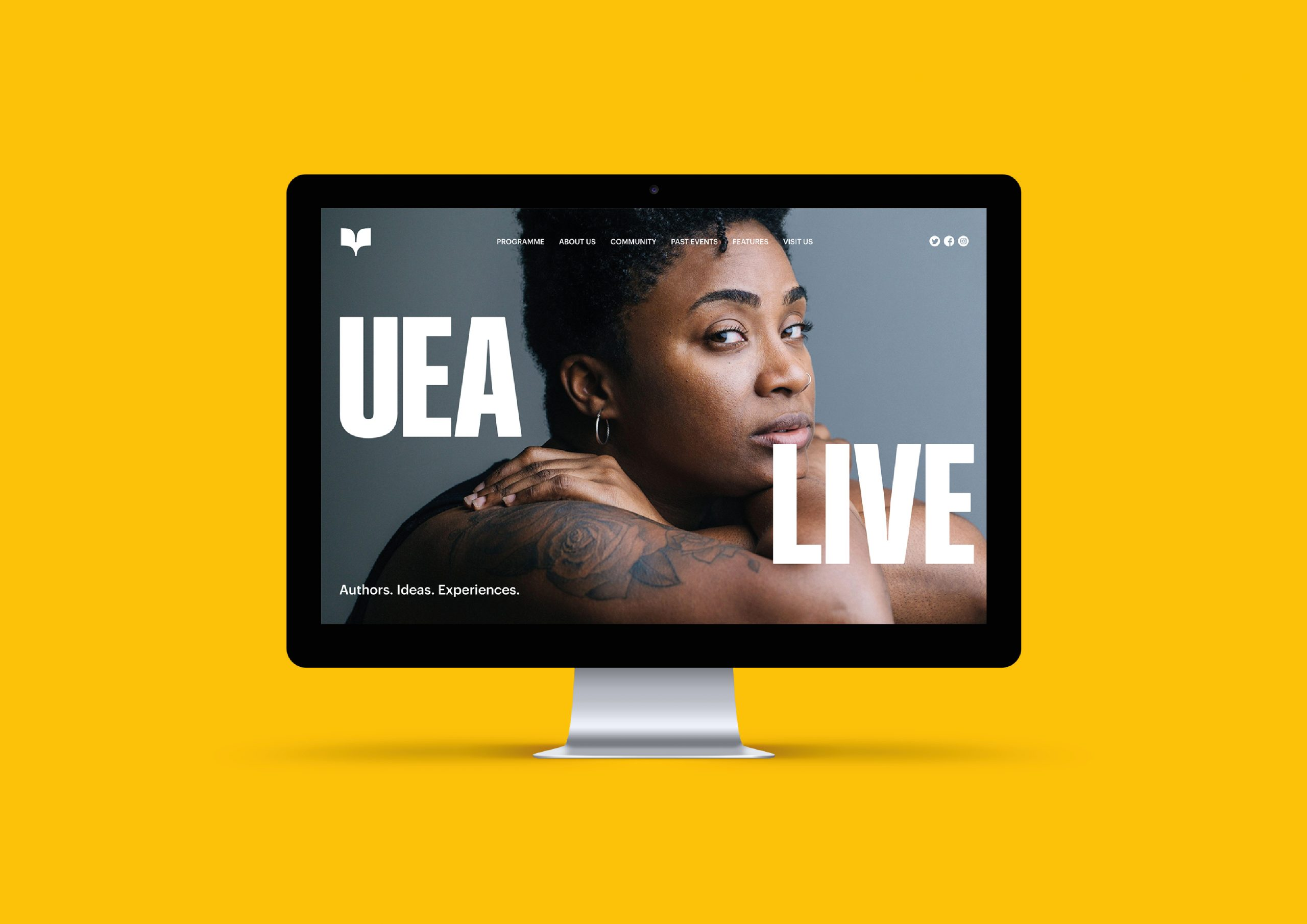 UEA Live website design