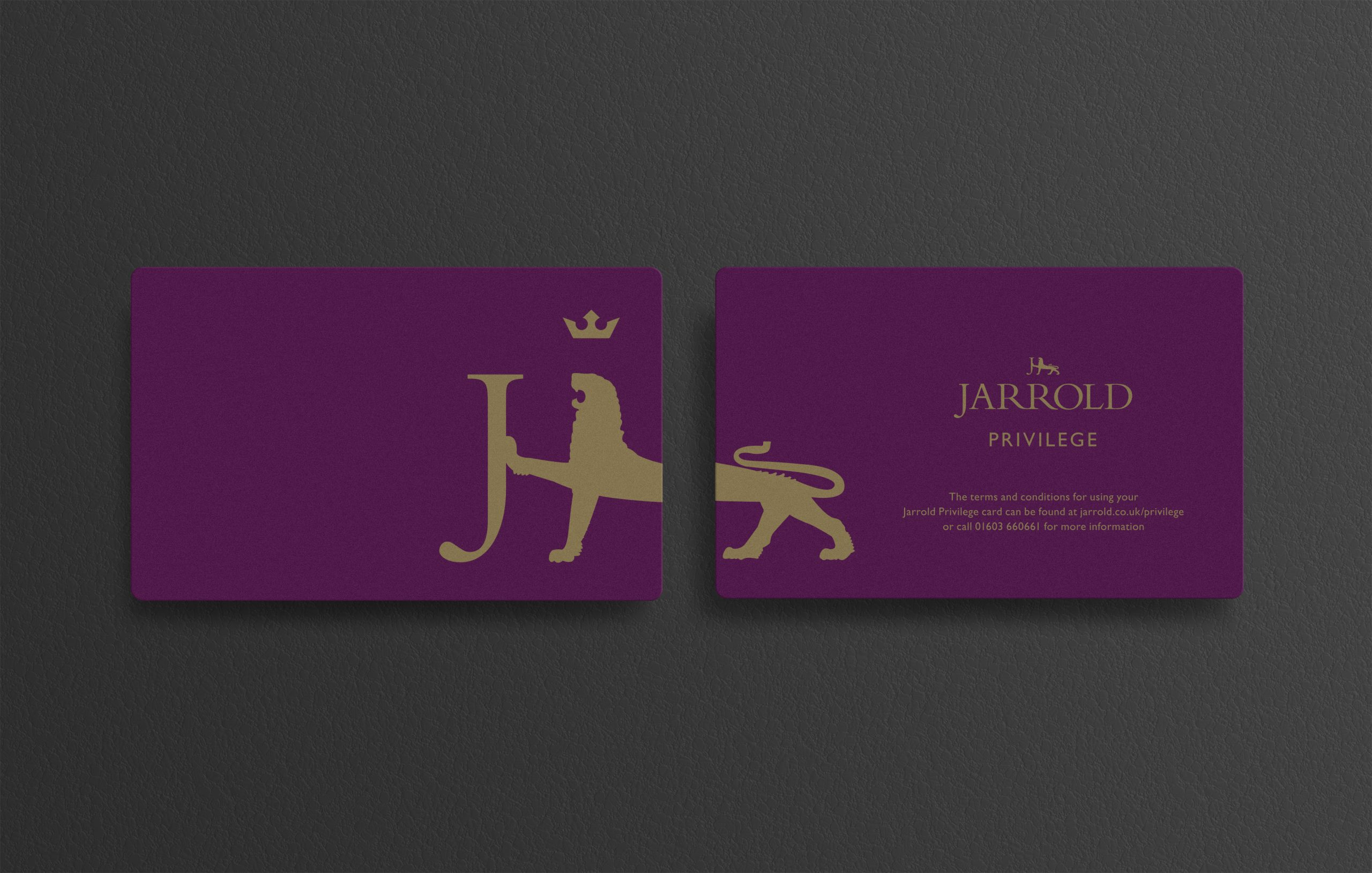 Jarrold Privilege card design