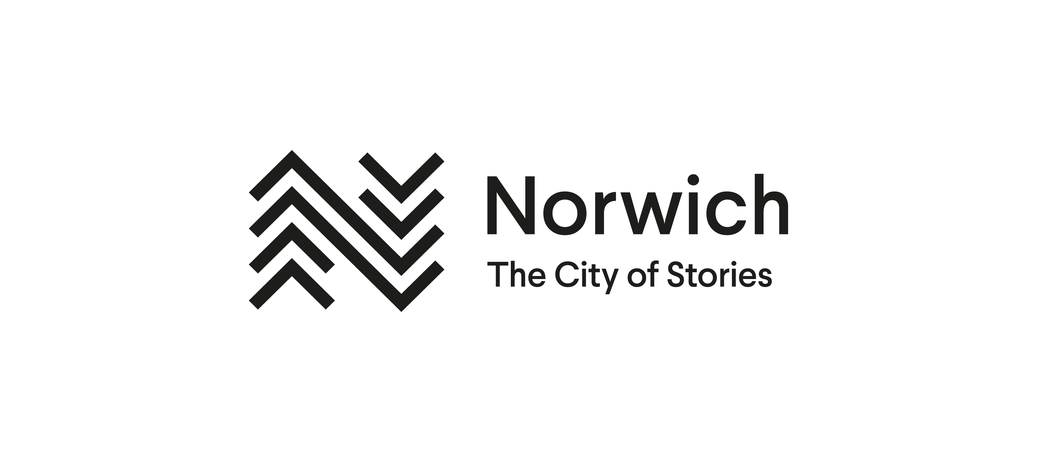 Norwich. The City of Stories logo