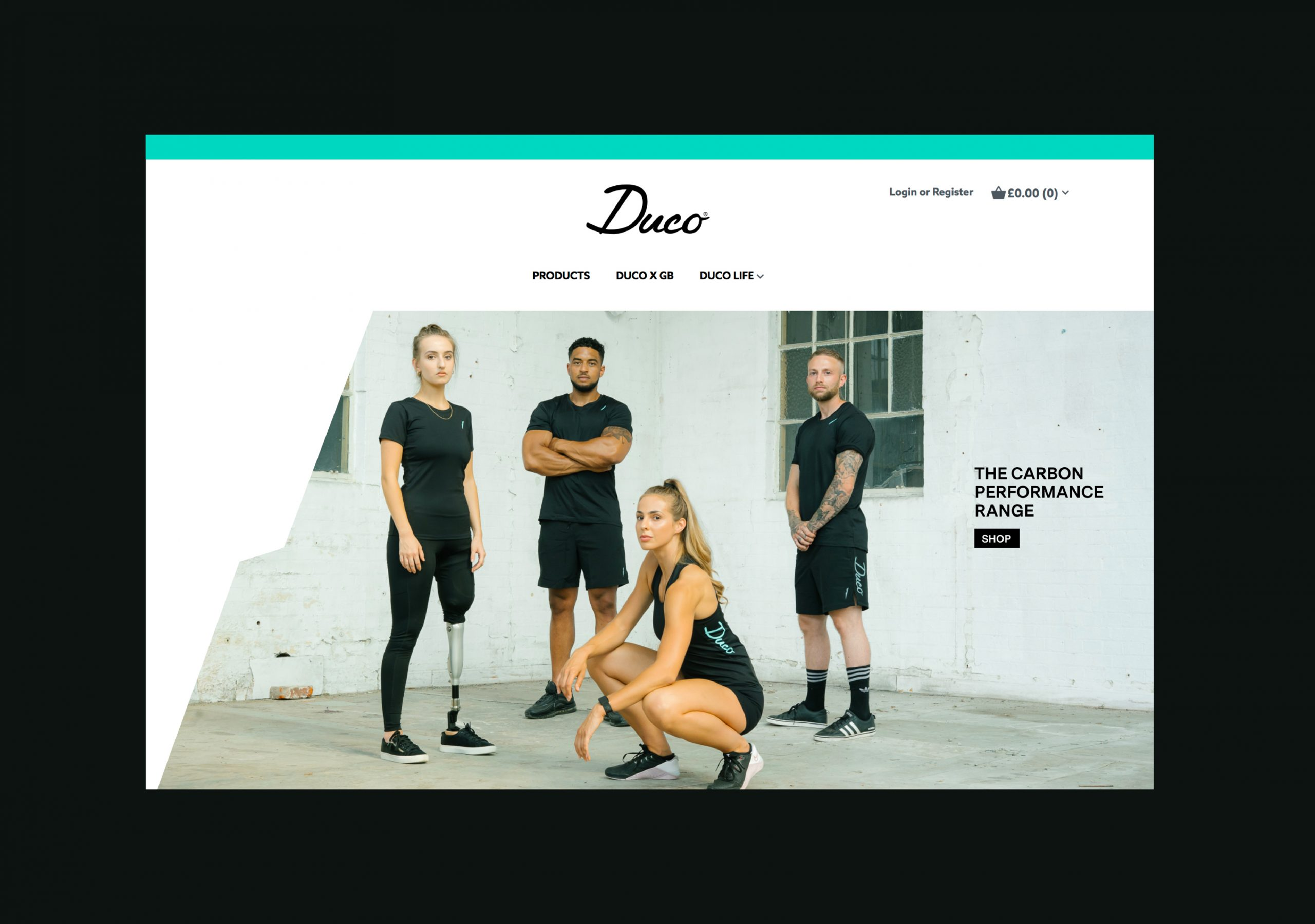 Duco website homepage